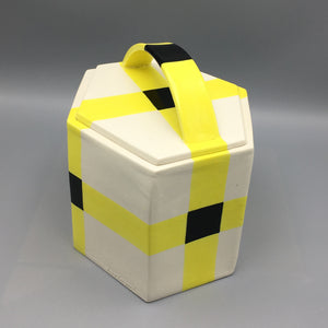 Kathryn Sharbaugh Geometric Slab Porcelain Basket Box - Museum Piece