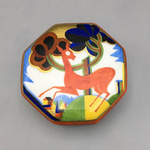Art Deco Porcelain Box Handpainted Work of Art