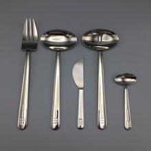 Richard Meier c. 1980 Stainless Flatware Serving Set for Swid Powell (5 pc)