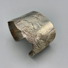 Noble Smith Sterling Silver Reticulated American Modernist Cuff Bracelet