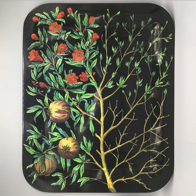 Piero Fornasetti Original 'Quattro Stagioni' Pomegranate Tree Tray
