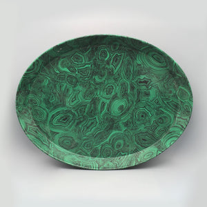 Fornasetti c 1950 Malachite Green Oval Tray