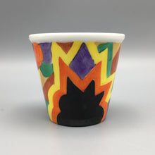 Rosenthal Bavaria c. 1925 Abstract Art Deco Handpainted Cactus / Flower Pot