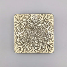 Collectible Made in France Tin Box with All Over Flower Design on Lid