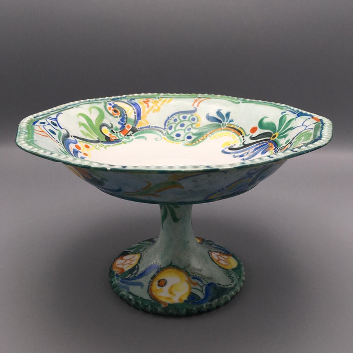 Large Rosenthal Hand Painted German Expressionist Porcelain Centerpiece Bowl