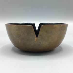 Ernst Lichtblau Vintage Black Enamel over Copper Ash Tray