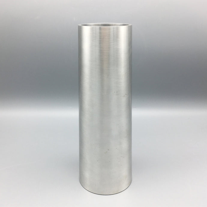 Large Michael Verheyden Brushed Aluminum and Walnut Prototype Filtre Vase