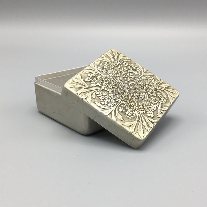 René Lalique Cheramy Embossed Tin Box