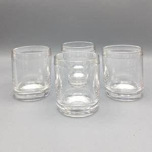 Mid Century Modern Architect Designed Heavy Masculine Whiskey Glasses Set of Four