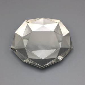 Tiffany & Co. Decagonal Sterling Silver Faceted Tray