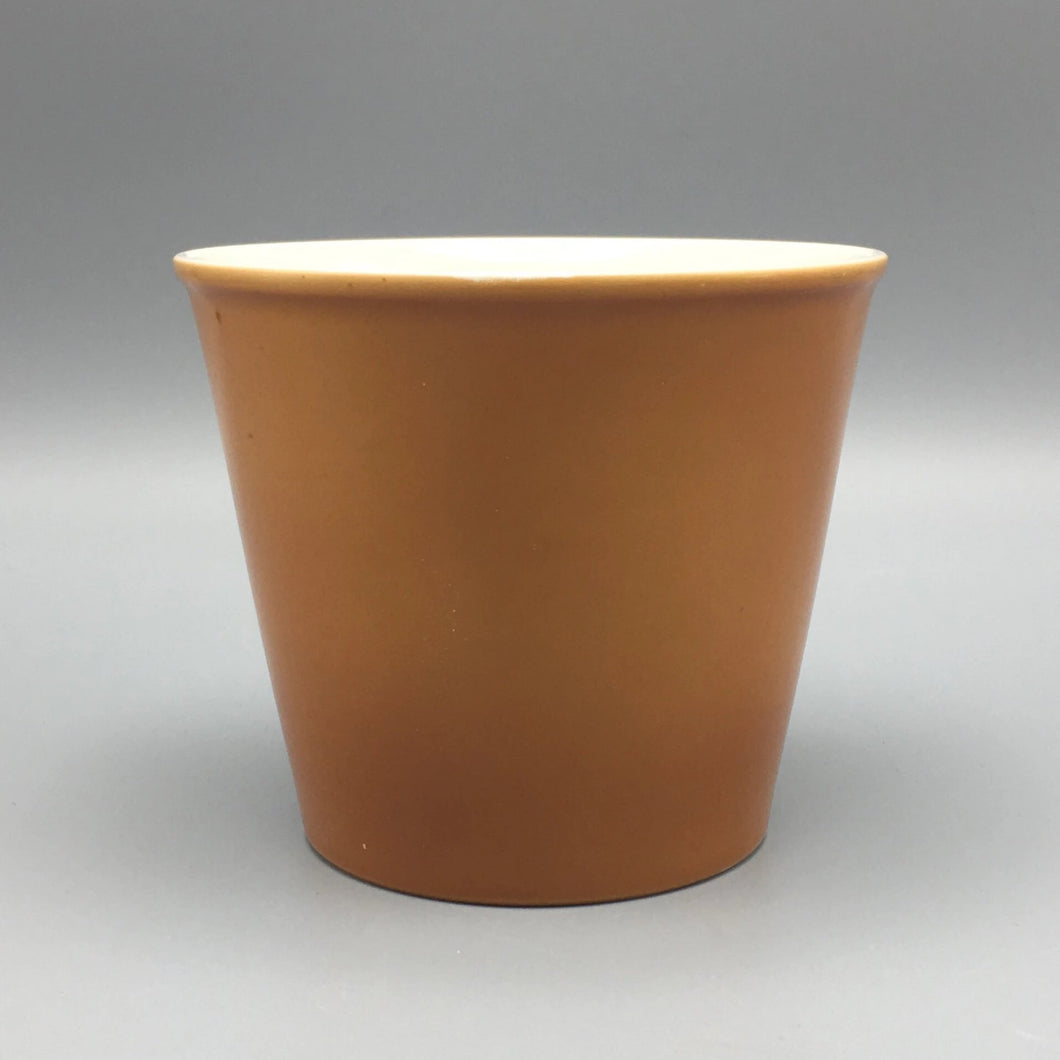 Augarten Wien c. 1970 Burnt Orange Sepia Ocher Porcelain Planter