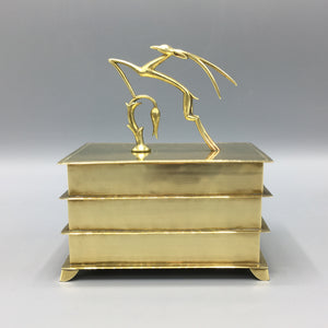 Hagenauer Wien Jazz Age Stacked Sectional Brass Box