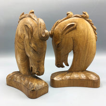 Laszlo Hoenig 'LAHO London' Hand Carved Art Deco Horse Bookends