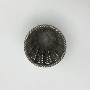 Janna Mexico Sterling Silver Hand Woven Catch-all Basket Cup