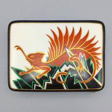 Kurt Wendler Antique 1920s Fantasy Red Dragon Jazz Age Porcelain Box