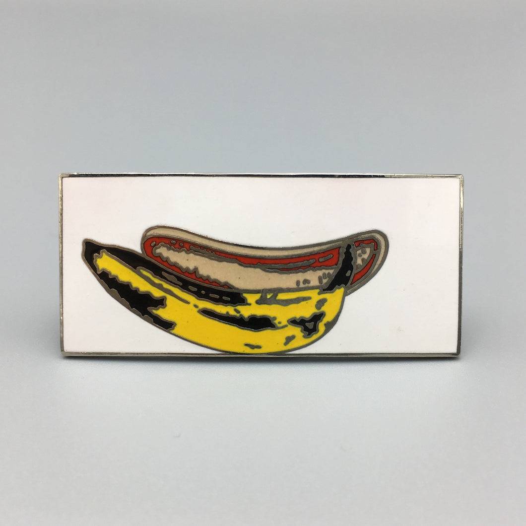 Andy Warhol Silver Plate Cloisonne Enamel 'Banana' Brooch for ACME Studios