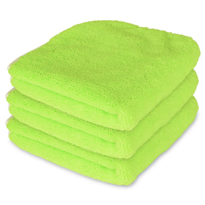 "Liquid X Multi-Purpose Microfiber Towel : Green w/ Silk Edges 16"" x 16"""