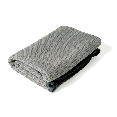 "Liquid X Gray Matter Waffle Weave Drying Towel with Silk Edges - 25"" x 36"""