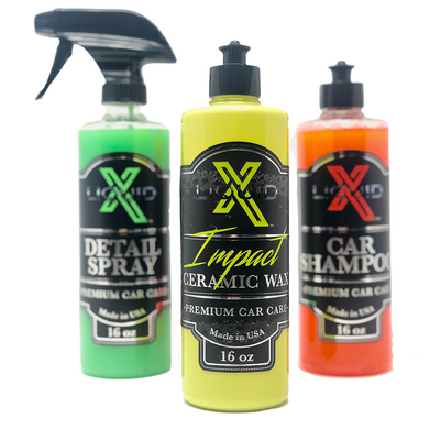 Liquid X Impact Ceramic Wax + FREE Detail Spray & Car Shampoo