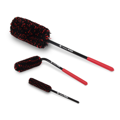 Liquid X Original Wheel Woolies Brushes 3 Piece Kit - Black