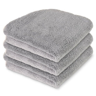 "Liquid X Multi-Purpose Microfiber Towel : Gray w/ Silk Edges 16"" x 16"""