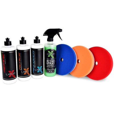 Liquid X Heavy Paint Correction Trio Kit