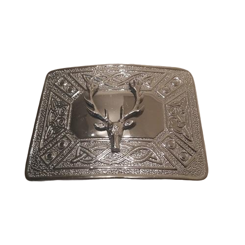 Stag Head Kilt Belt Buckle