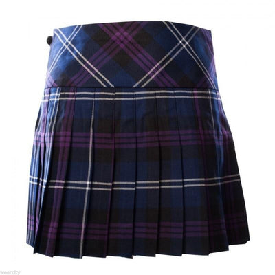 Black Watch Weathered Tartan Mini Skirt