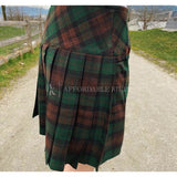 Brown Watch Tartan Mini Skirt - Classic