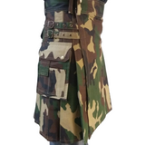 Cargo Utility Kilt - Camo - Affordable Kilts