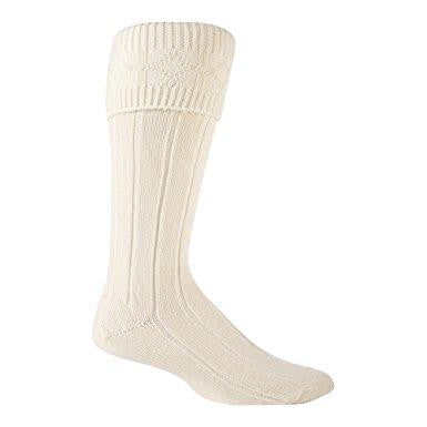 Kilt Socks / Kilt Hose - Cream - Affordable Kilts