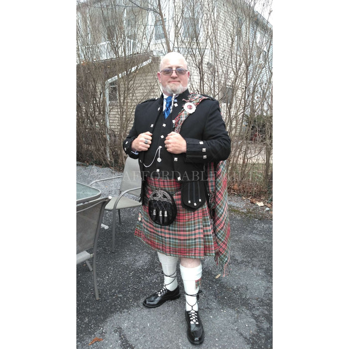 Gordon Red Weathered Tartan Kilt