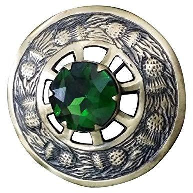 Stone Broach - Green - Affordable Kilts