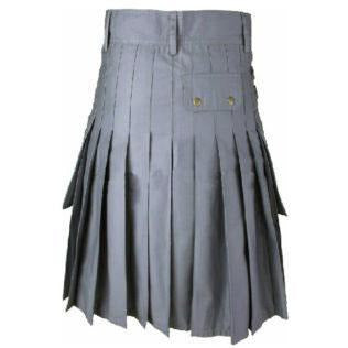 Cargo Utility Kilt - Grey - Affordable Kilts