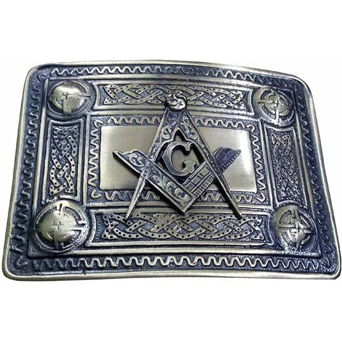 Buckle - Masonic (Black Antique)