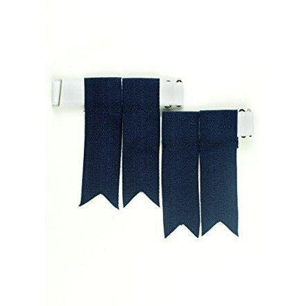 Navy Sock Flashes - Affordable Kilts