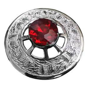 Stone Broach - Red - Affordable Kilts