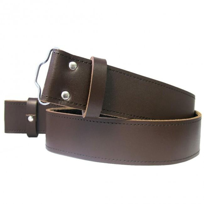 Leather Belt - Brown - Affordable Kilts