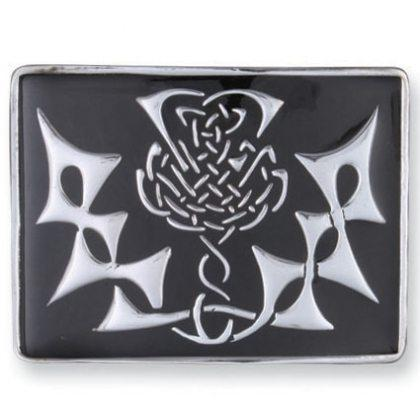 Buckle - Large Thistle (Black)