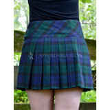 Black Watch Tartan Mini Skirt 32x16""