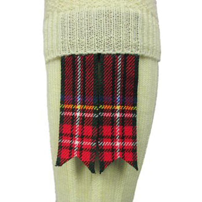 Matching Tartan Sock Flashes