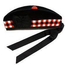 Glengarry Cap with Red/White Stripe - Affordable Kilts