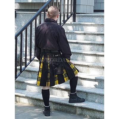 Hybrid Kilt with 'Peek a Boo' Tartan Flashes