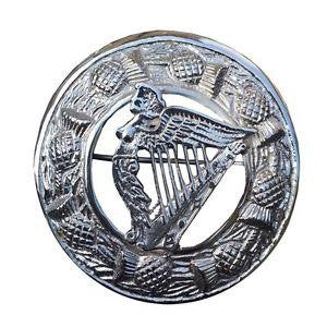 Large Harp Brooch - Affordable Kilts