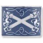 Scottish Flag Kilt Belt Buckle