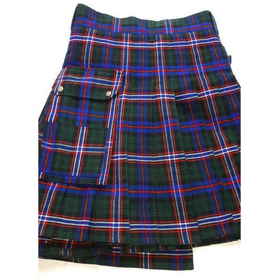 Scottish National Tartan Utility Kilt. Waist 42
