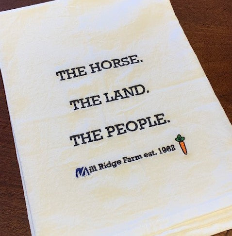 Horse. Land. People. Tea Towel