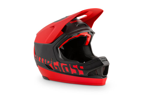 BlueGrass LEGIT CARBON HELMET - BLACK & RED (MATT)