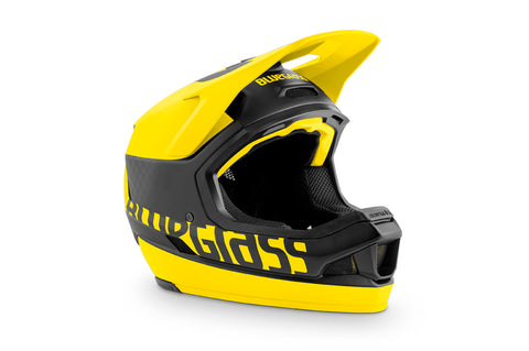 BlueGrass LEGIT CARBON HELMET - BLACK & YELLOW (MATT)