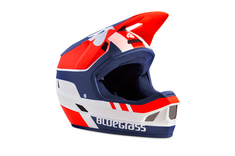 BlueGrass LEGIT HELMET - WHITE, RED & BLUE (MATT)